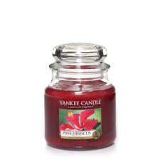 Bougie Yankee Candle Hibiscus Rose - Moyenne Jarre
