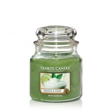 Bougie Yankee Candle Vanille Citron Vert - Moyenne Jarre